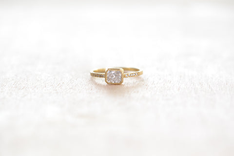 <small>Jennifer Dawes</small><br>Blockette Bezel Set Ring