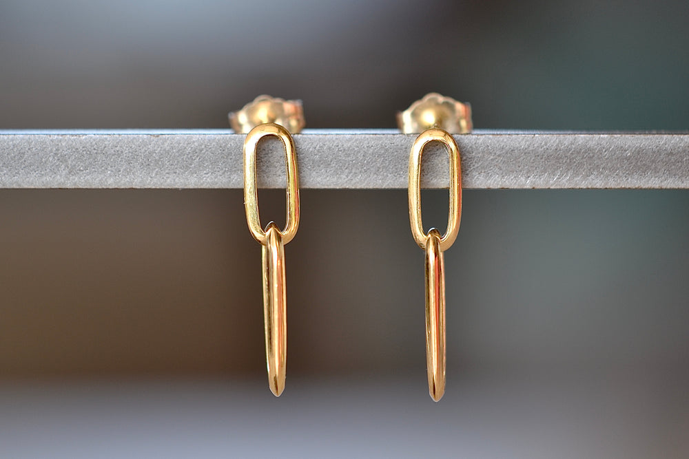 Lizzie Mandler Double Knife Edge Yellow 18k Gold earrings