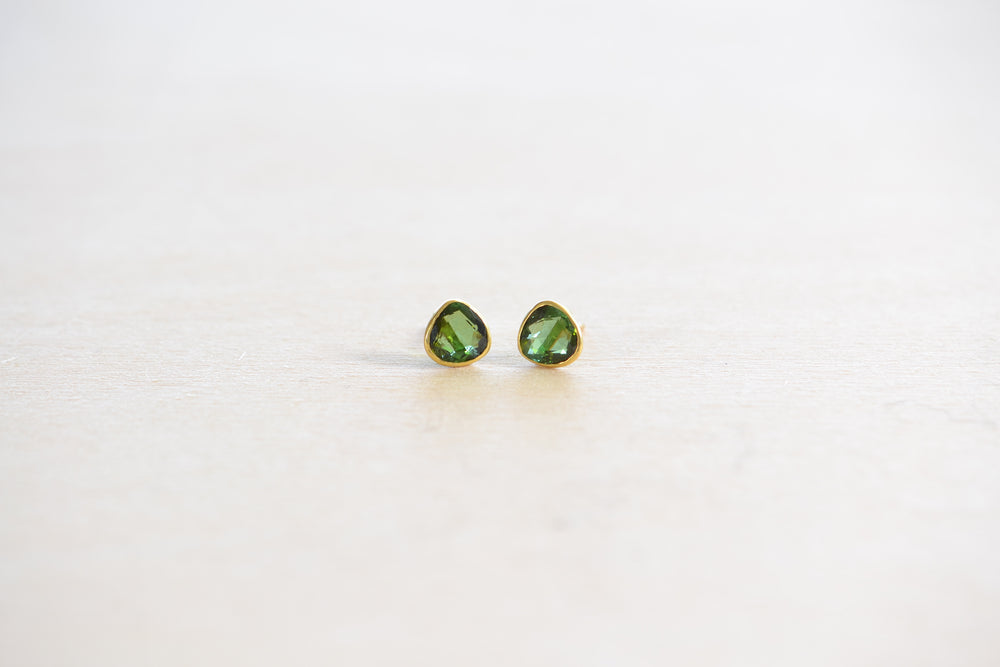 Load image into Gallery viewer, Pippa Small Classic Stud Studs Earring Green Tourmaline