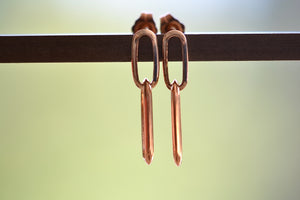 Lizzie Mandler Double Knife Edge Silver and Rose 18k Gold earrings