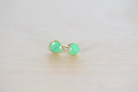 <small>Pippa Small</small><br> Chrysoprase Colette Stud Earrings