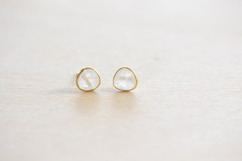 <small>Pippa Small</small><br> Moonstone Stud Earrings
