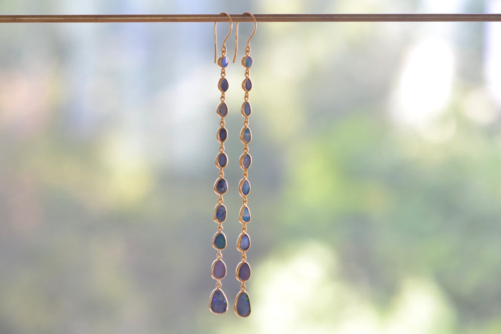 Load image into Gallery viewer, Pippa Small Caribbean Daydream Ten Drop Earrings