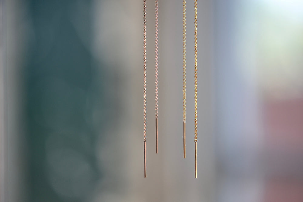 Load image into Gallery viewer, Lizzie Mandler Threads earrings in 18k yellow rose gold