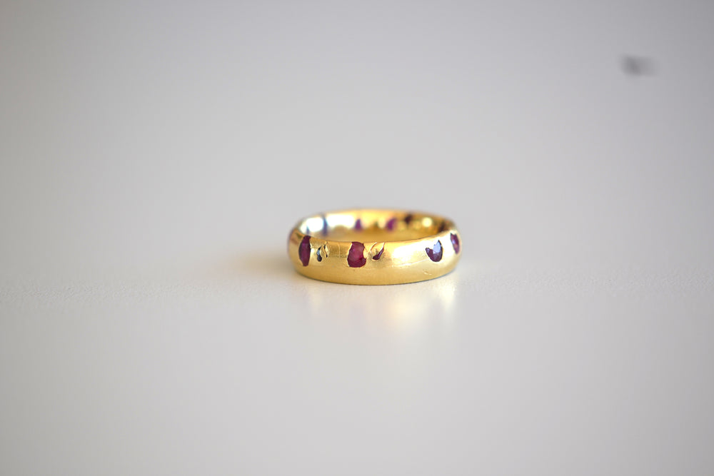 Ruby Wide Celeste Ring