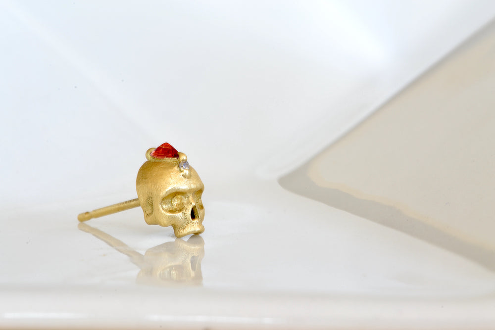 Island of the Shrines Skull Stud Earring
