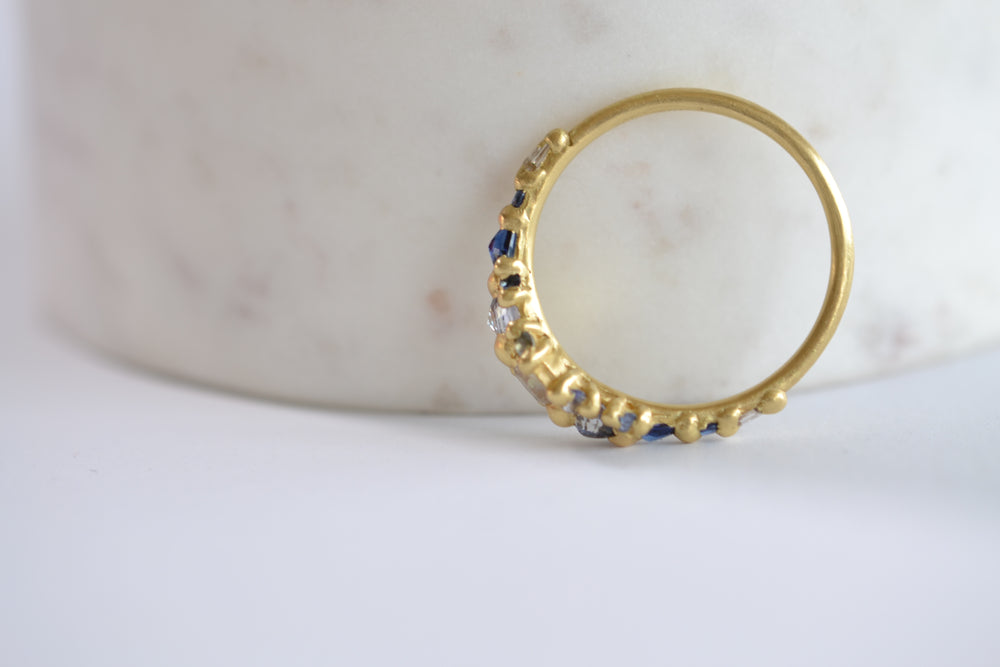 Blue Marietta Diamond Ring