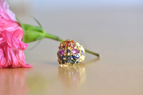 <small>Polly Wales</small><br>Ourika Shield Diamond and Sapphire Ring