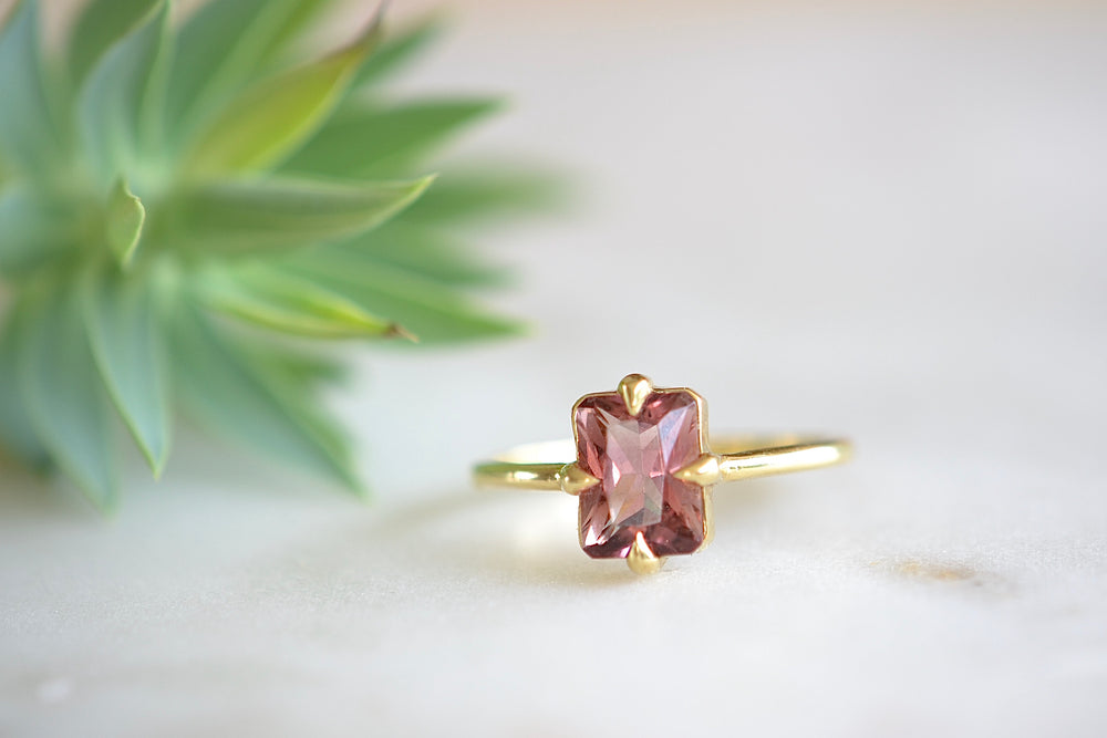 Pink Eagle Claw Tourmaline Ring