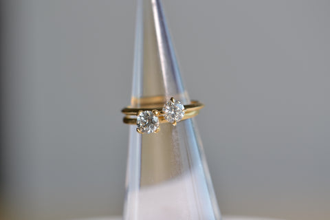<small>Lizzie Mandler</small><br> Round Solitaire half carat ring