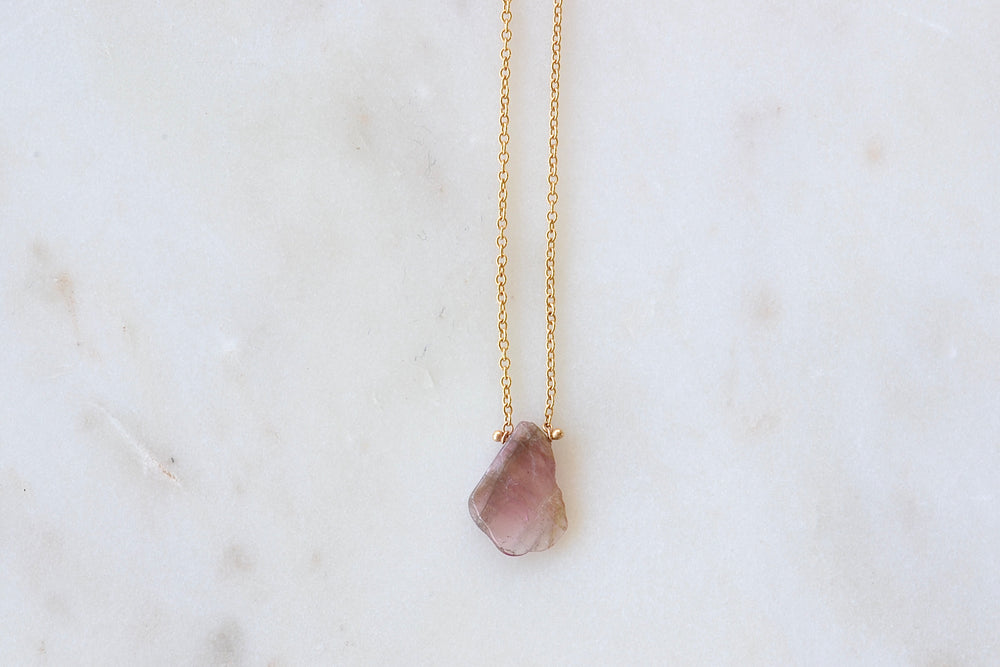 Load image into Gallery viewer, Pink Tourmaline Pendant Necklace