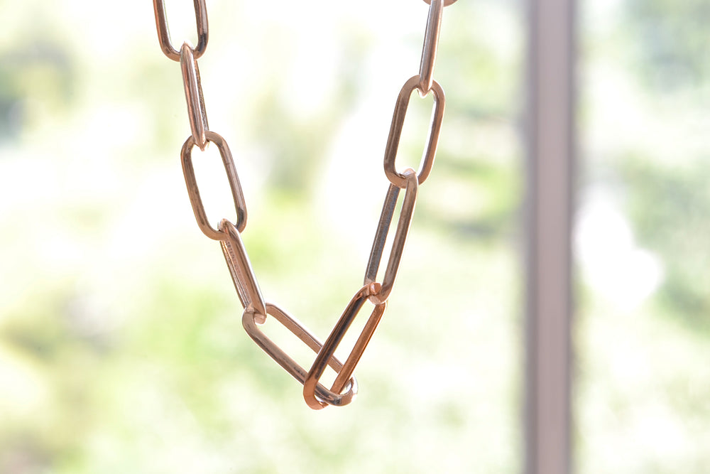 Graduating Links Choker in Silver and Gold or Rose gold