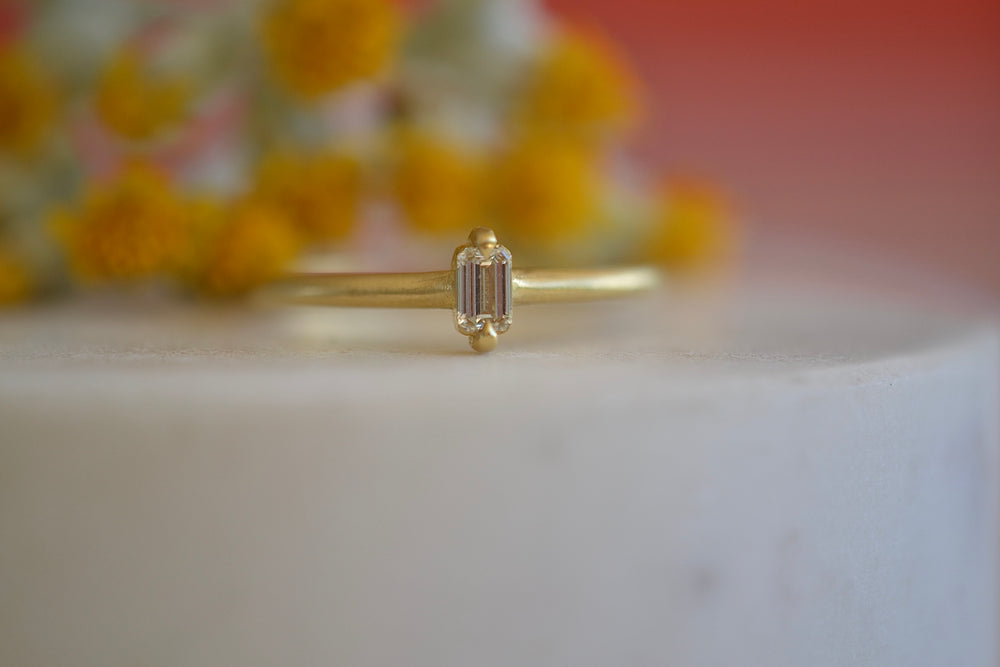 Eagle Claw Diamond Baguette Ring