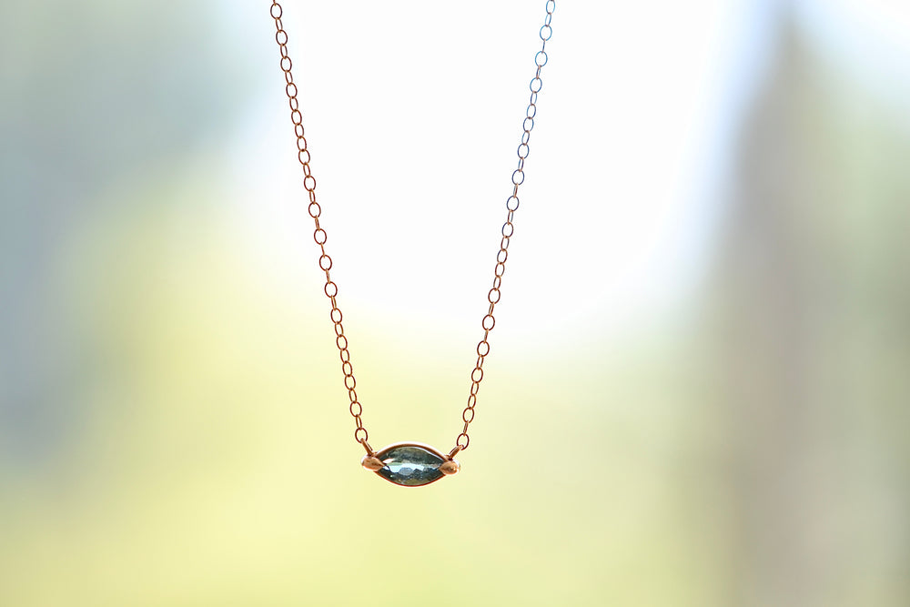 Marquise Tourmaline Pendant Necklace