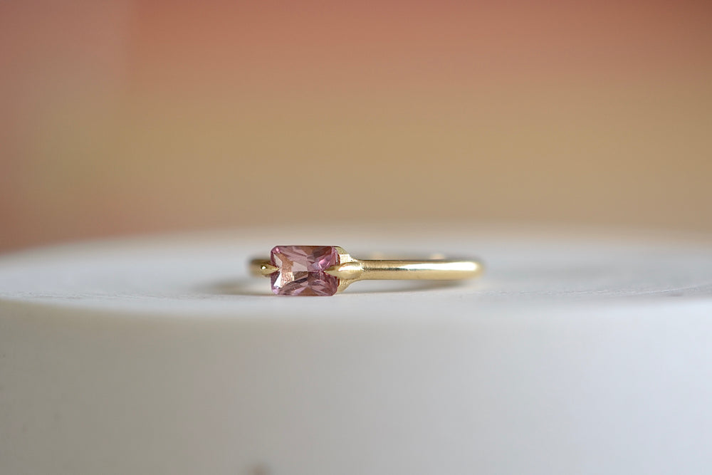 East West Baguette Tourmaline Ring