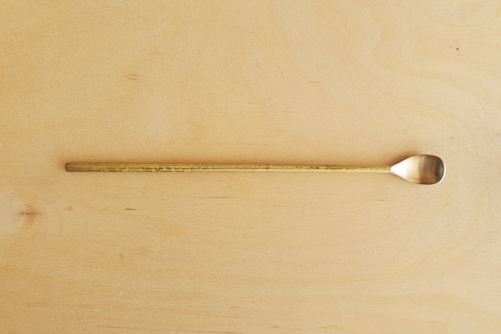 Load image into Gallery viewer, Japanese Brass Long Spoon