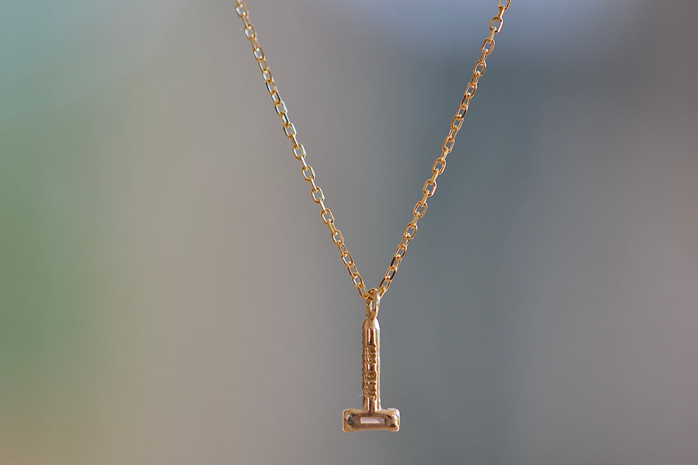 Jennie Kwon Baguette Diamond Drop Necklace 14k Yellow Gold
