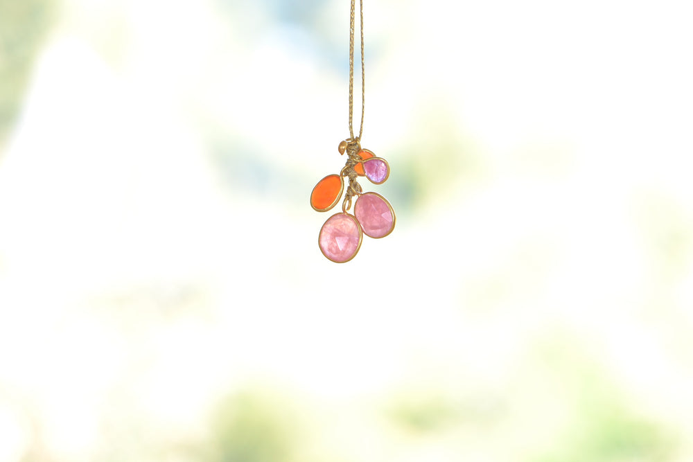 Rosy Dawn Colette Cluster Necklace