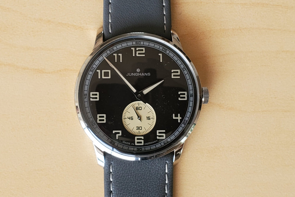 Load image into Gallery viewer, Junghans Meister Handwound Anthracite Grey Effect Lacquer Dial