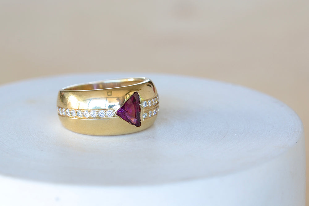 Load image into Gallery viewer, Rhodolite Cigar Band