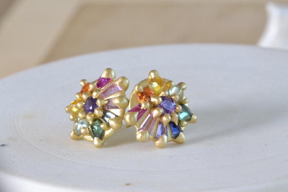 Lyra Dome Stud Earrings in Blossom Crush
