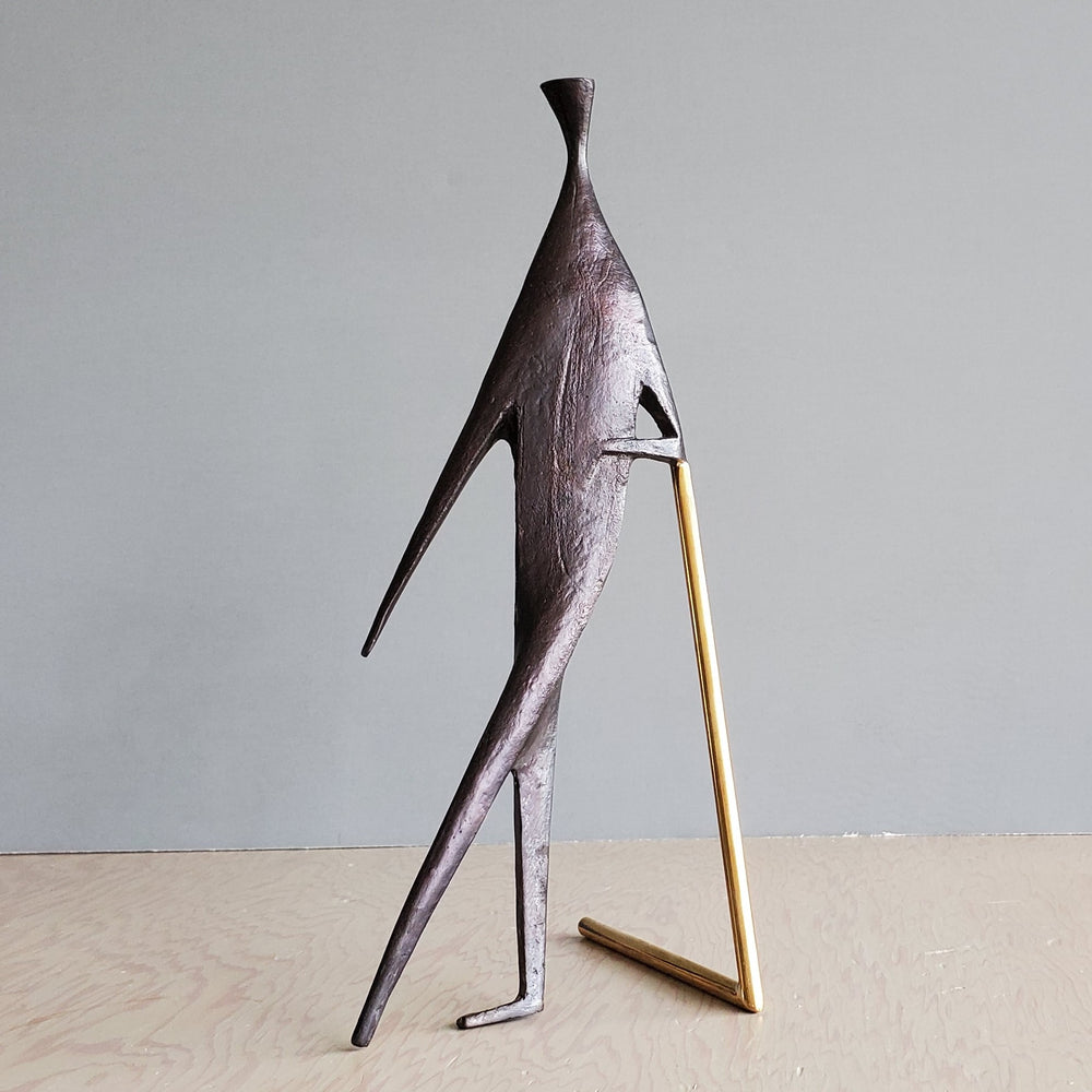 "Aubock Sculpture ""Man With Stick"" 4060"