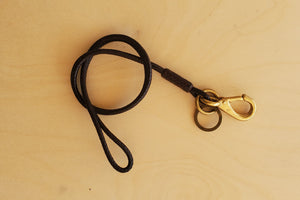 Braided Leather Lanyard Keychain