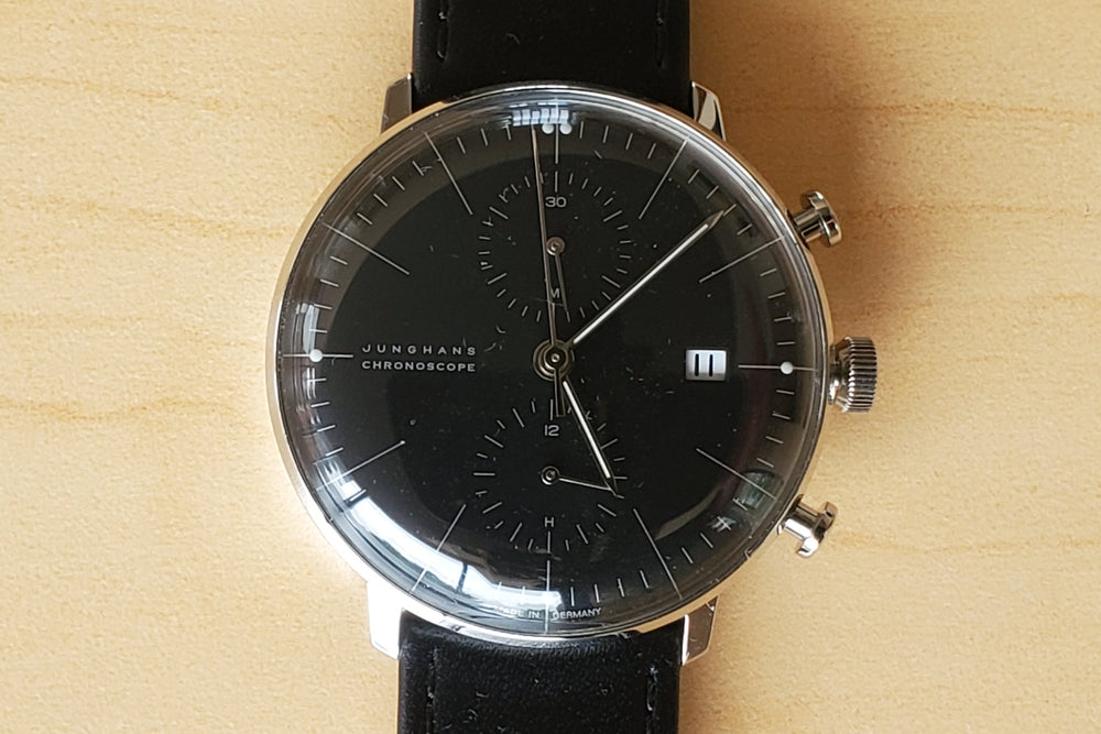 Max Bill Chronoscope Black Dial