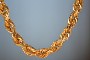 "OK Chain Bar Rope Chains 14k gold 18"" rope chain in 4mm wide Handmade in Los Angeles"