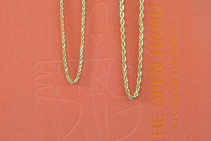 "OK Chain Bar Rope Chains 14k gold 18"" rope chains in 3mm or 4mm wide Handmade in Los Angeles"