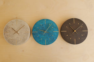 "Load image into Gallery viewer, Japanese Cast Brass Clock ""Orb"" Silver Finish"