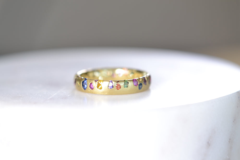 Mixed Rainbow Confetti Band