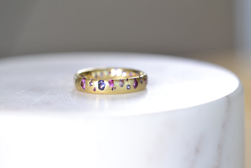 Purple and Fuchsia Sapphire Confetti Band