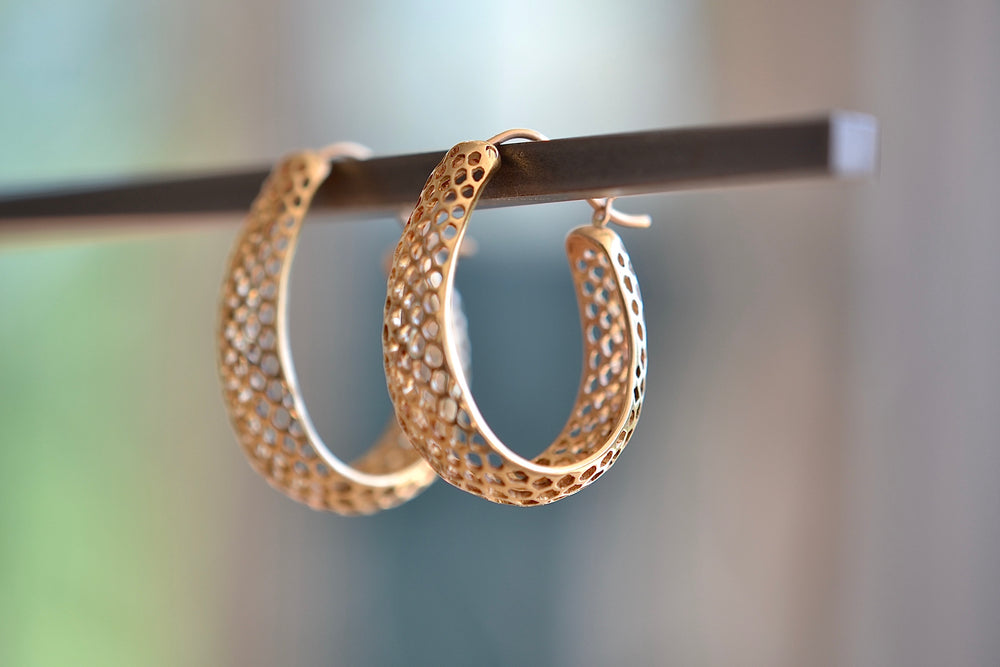 Small Round Snakeskin Hoops