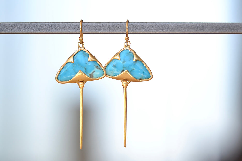 Turquoise Stingray Earrings