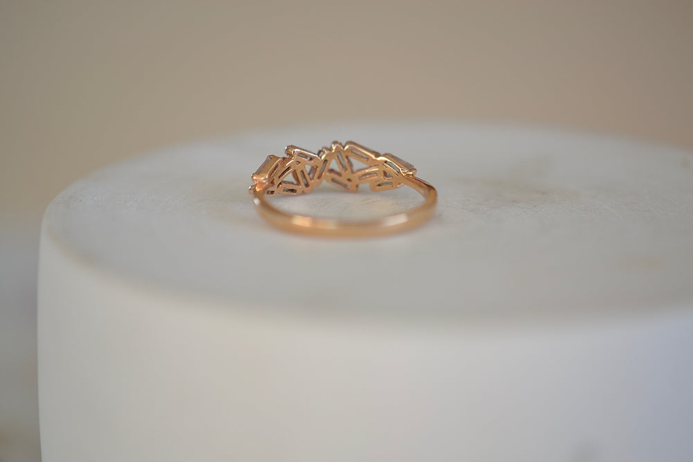 Suzanne Kalan Rose Gold Cluster Band Chevron