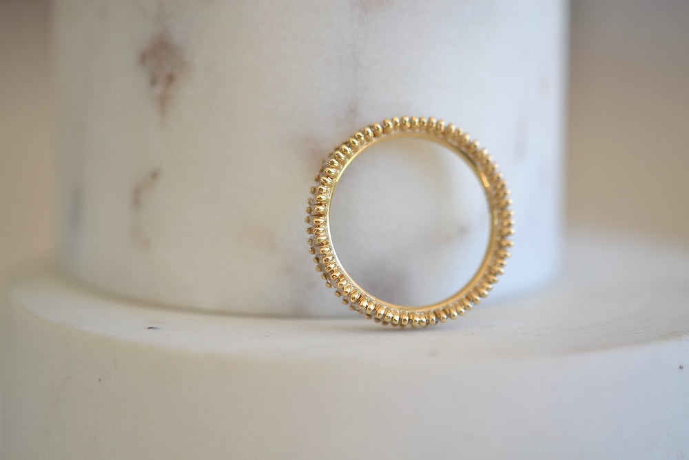 Suzanne Kalan 18k Yellow Gold Small Baguette Eternity Band