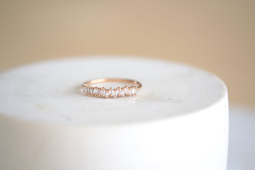 Half Baguette Eternity Band Rose Gold