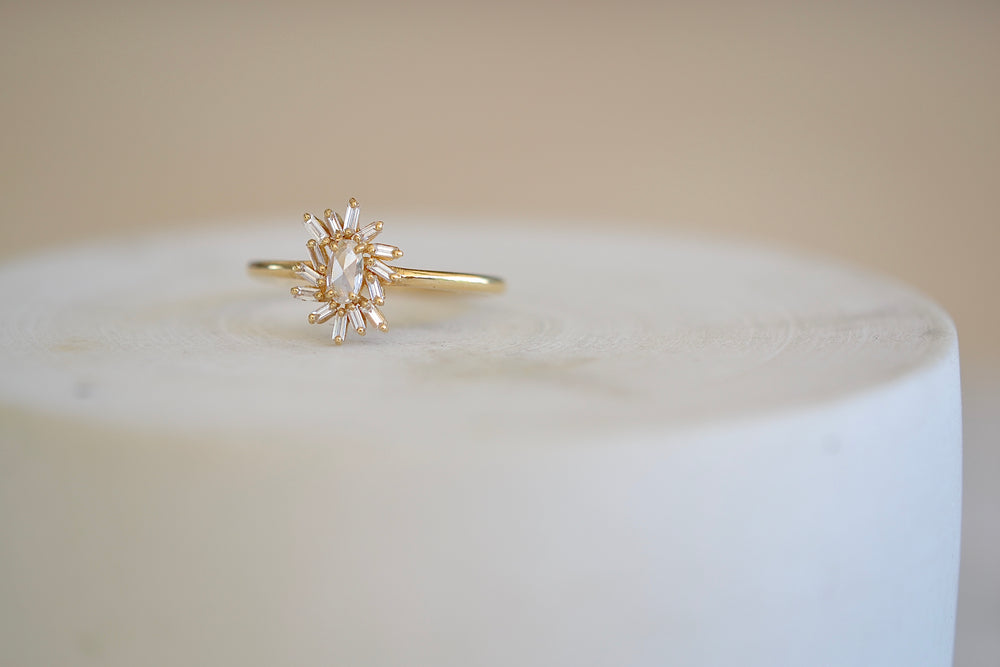 Marquise Diamond Ring with Fireworks