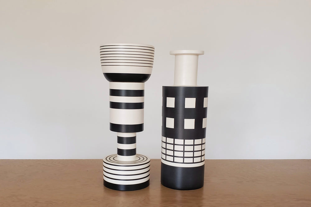 Load image into Gallery viewer, Ettore Sottsass Calice and Rocchetto Vases for Bitossi