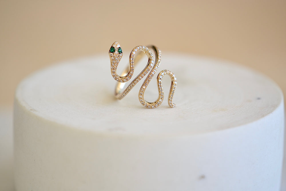 Extra Large Snake Pave Ring