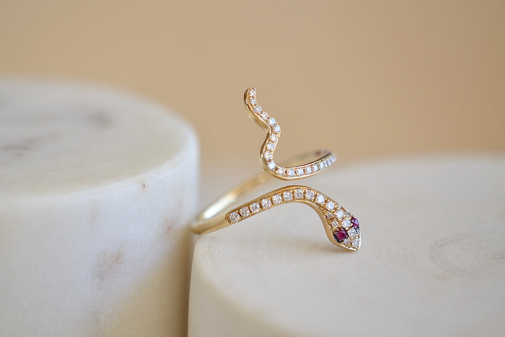 Medium Snake Pave Ring