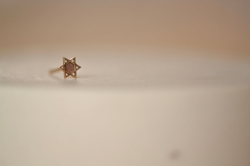 Zoe Chicco Midi Bitty Stud Earring in stud available in Star of David in 14k yellow recycled gold with post closure