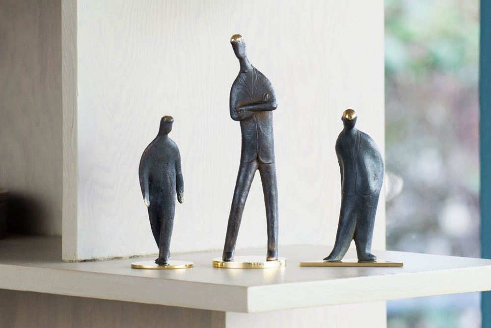 "Aubock Sculptures ""My Son"", ""Standing"", ""Walking"""