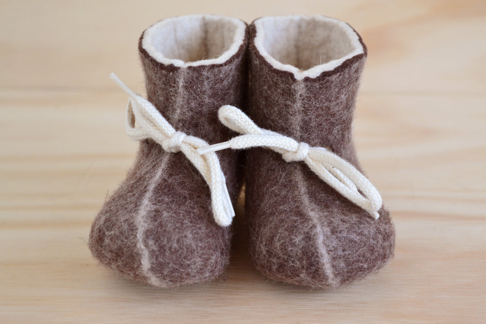 Load image into Gallery viewer, Felt Baby Boots from Denmark