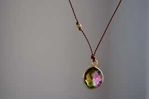 Margaret Solow Emerald, Ruby and Sapphire Filigree earrings 20k yellow gold ear wire pink green blue