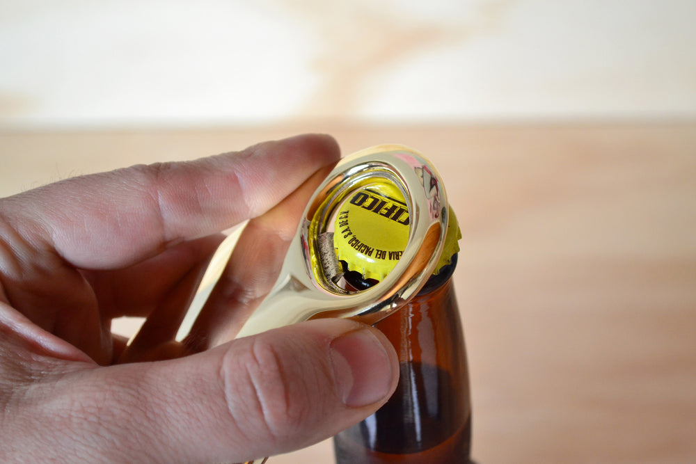 Load image into Gallery viewer, Brass Barbara Bottle Opener | OK