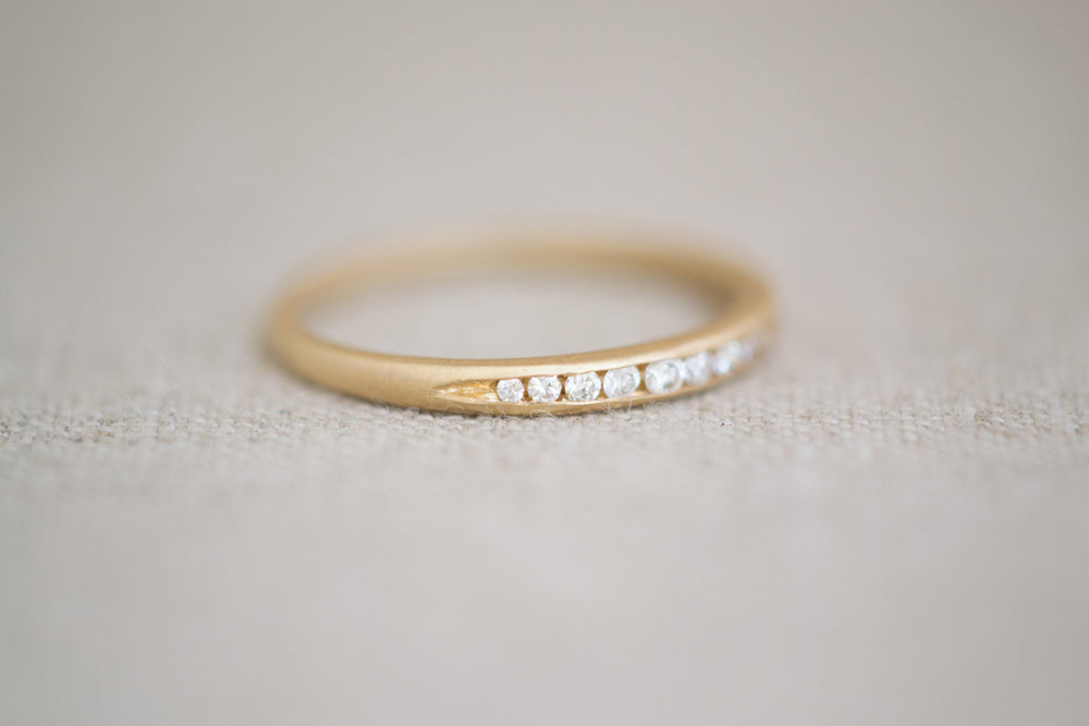 Tapered Diamond Band