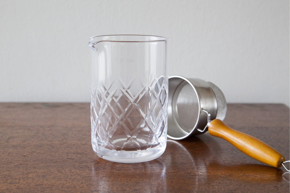 Japanese Etched Mixing Glass