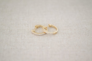 Load image into Gallery viewer, Pave Diamond Huggie Earrings | OK